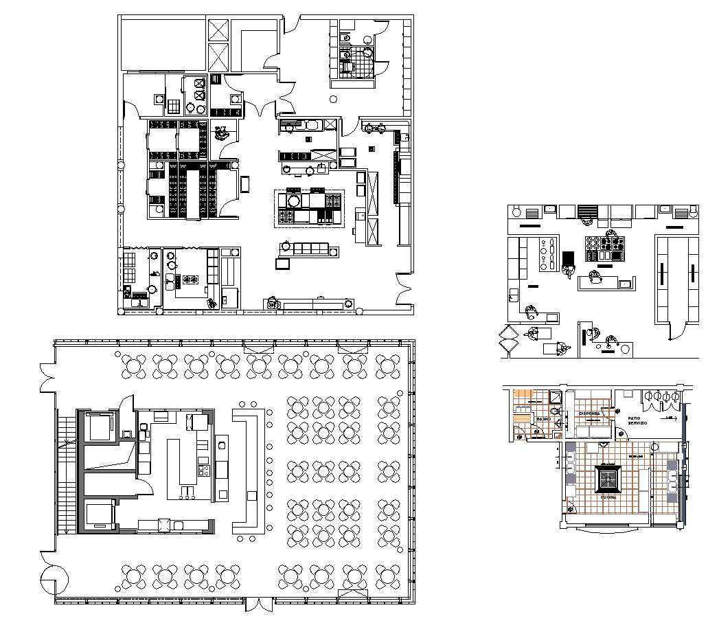 Restaurant Plan Design Autocad Design Pro Autocad Blocks Drawings Download