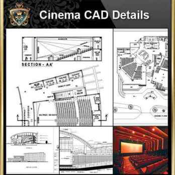 Cinema Design,Autocad Blocks,Cinema Details,Cinema Section,Cinema elevation design drawings