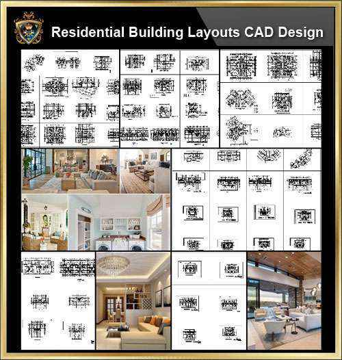 ★【Over 130+ Architecture Layout,Building Plan Design CAD Design,Details Collection】Residential Building Plan@Autocad Blocks,Drawings,CAD Details,Elevation