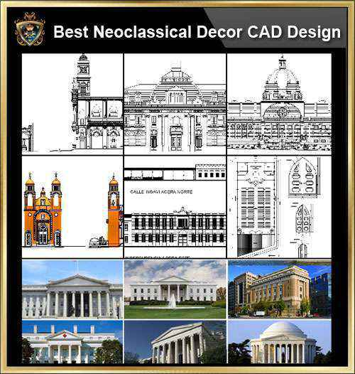 Best Neoclassical Style Decor Cad Design Elements Collection Neoclassical Interior Home Decor Traditional Home Decorating Decoration Autocad Blocks Drawings Cad Details Elevation Autocad Design Pro Autocad Blocks Drawings Download