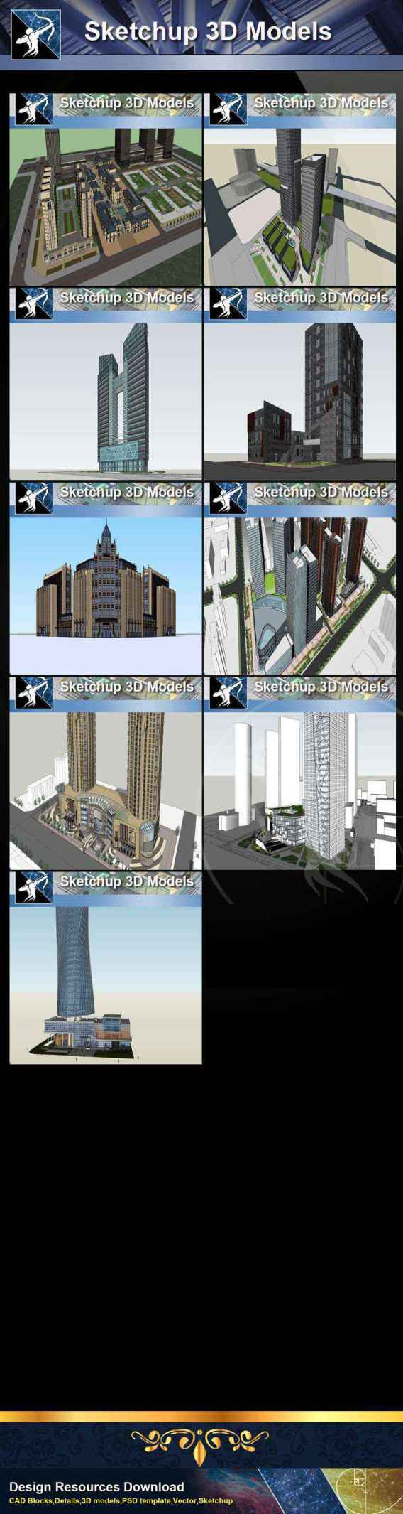 ★Best 37 Types of Commercial,Shopping Mall Sketchup 3D Models Collection
