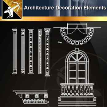 ★【 Free Architecture Decoration Elements V.13】