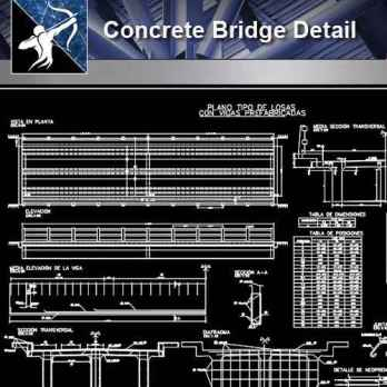Concrete Bridge CAD Details