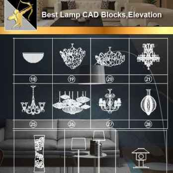 Lamp CAD Blocks