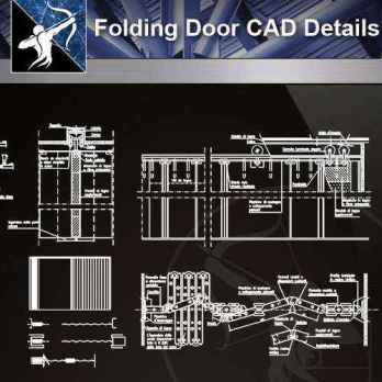 【Architecture CAD Details Collections】Folding Door CAD Details