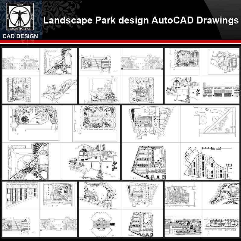 Landscape Park Design Autocad Drawings Collections All Kinds Of Landscape Cad Drawings Autocad Design Pro Autocad Blocks Drawings Download